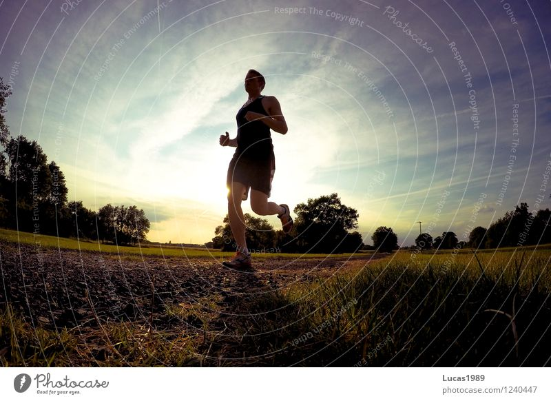 Run faster! Sports Fitness Sports Training Track and Field Sportsperson Sporting event Jogging Racing sports Human being Masculine Young man