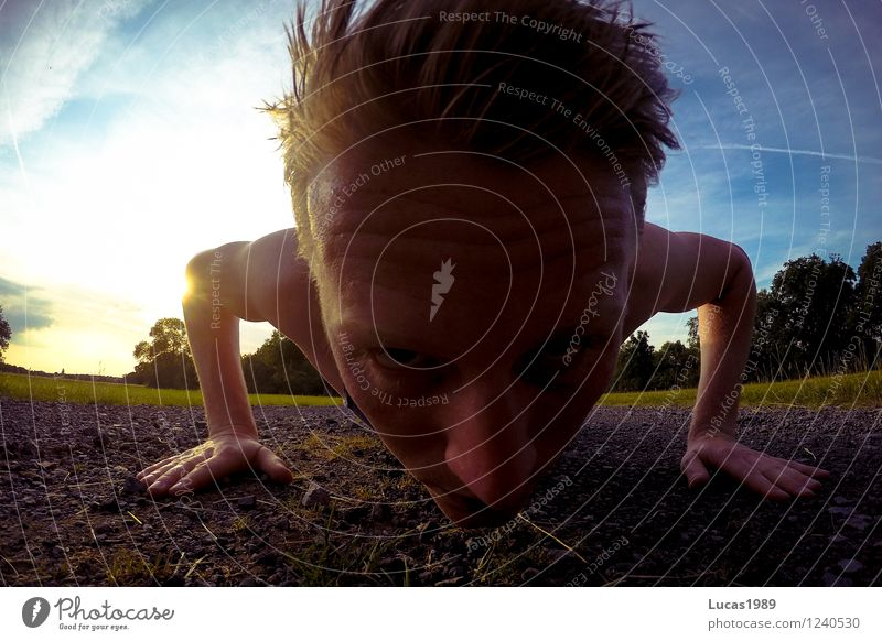 Human being Sky Nature Youth (Young adults) Man Summer Sun Young man 18 - 30 years Adults Meadow Sports Sand Masculine Field Earth