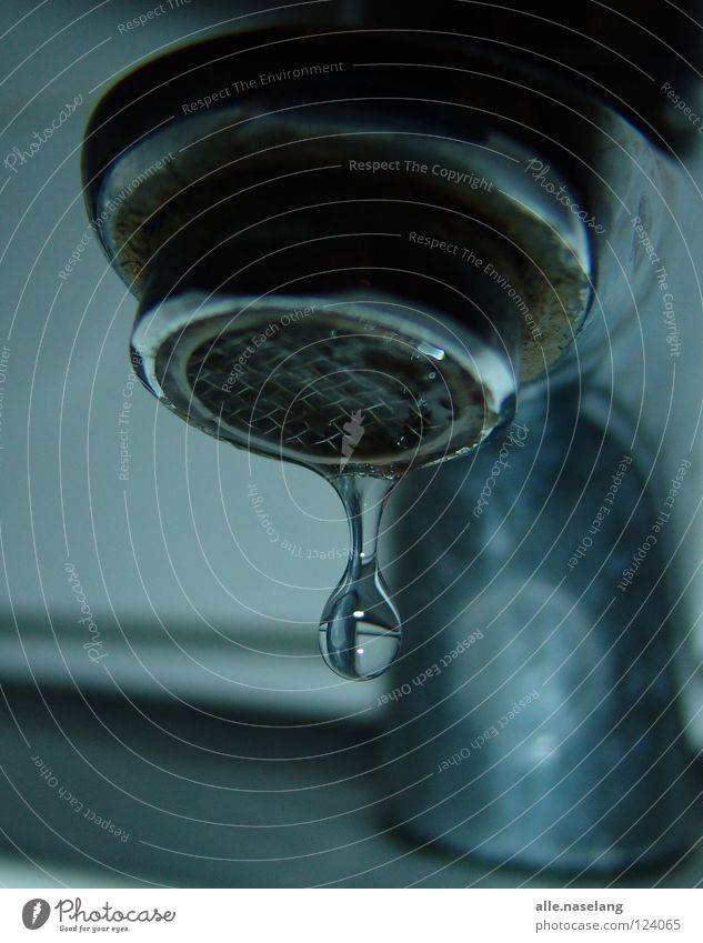 Blue Water Cold Gray Bright Glittering Wet Perspective Circle Round Drop Bathroom Under Fluid Damp Navigation