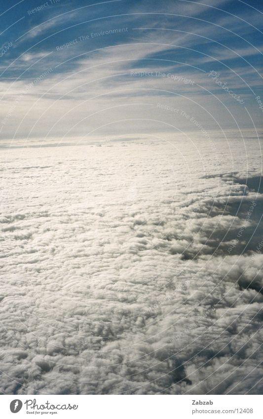Sky Sun Clouds Above Air Airplane Horizon Aviation