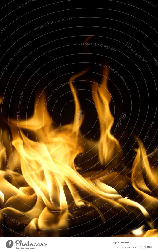 Yellow Blaze Fire Hot Burn Flame