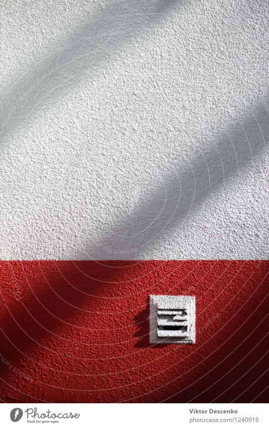 Pure white wall with a red stripe and shade Style Design Decoration Line Stripe Bright Modern Retro Clean Red White background Consistency light Transparent