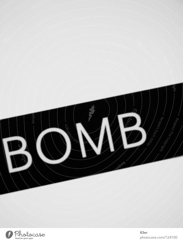 explosive Black White Bomb Painting and drawing (object) Diagonal Black & white photo Illustration Characters Sign