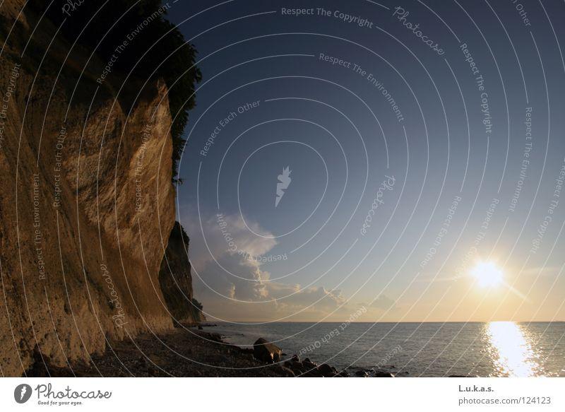rebukes Rügen Sunrise Sunset Romance Ocean Beach Summer Kreidefelsen Baltic Sea