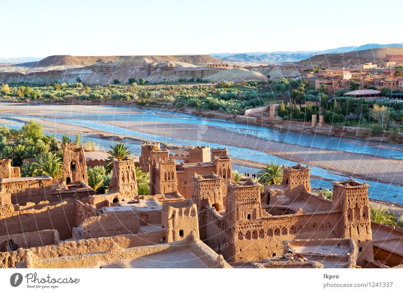 in morocco old city Vacation & Travel Tourism Summer Mountain House (Residential Structure) Culture Landscape Sand Sky Hill River Village Small Town Castle
