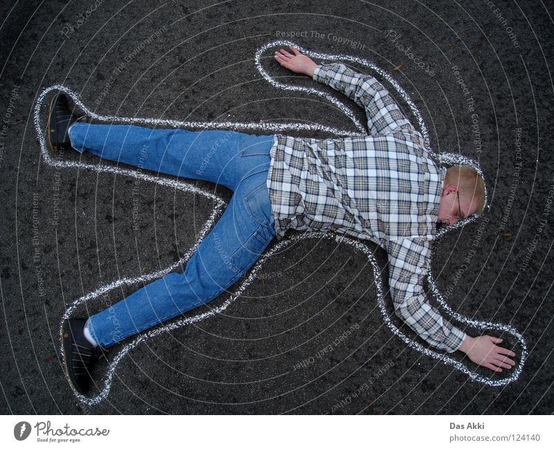 Code 187 Checkered Password Horizontal Grief Man Distress Autumn Street Chalk Death flannel lol Sadness akki Felix lovepainproject
