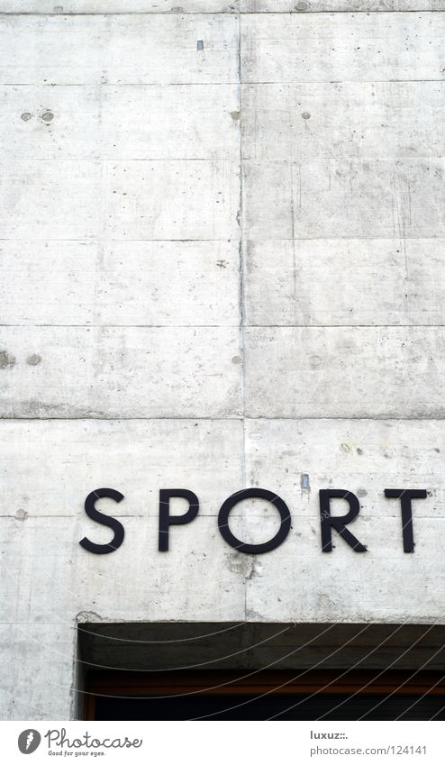 Sport Place Gymnasium Concrete Typography Lettering Building Leisure and hobbies Sports Playing Characters