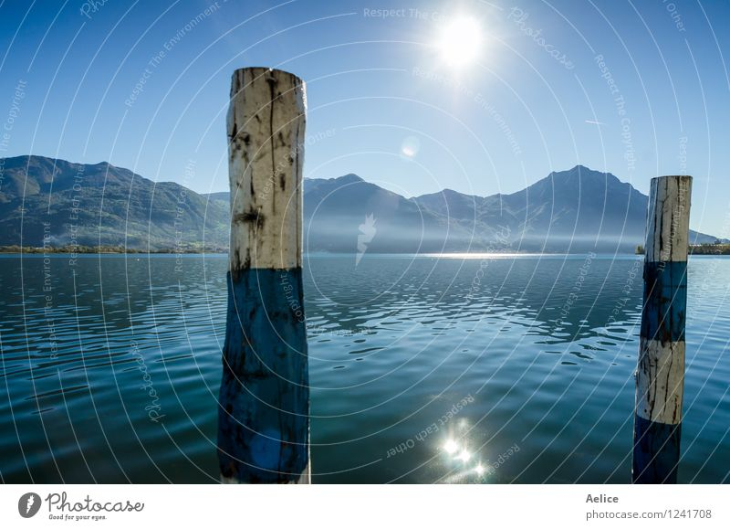 Beautiful view from Lake Iseo Lovere Bergamo Italy Sky Nature Vacation & Travel Blue Beautiful Summer Water Sun Landscape Winter Spring Autumn Natural Lake Tourism Fog