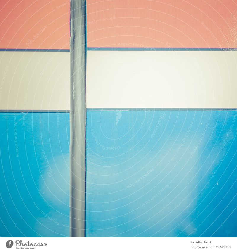 Holland Style Design Line Stripe Bright Blue Red White Colour Car body Structures and shapes Background picture Illustration Graph Graphic Colour photo
