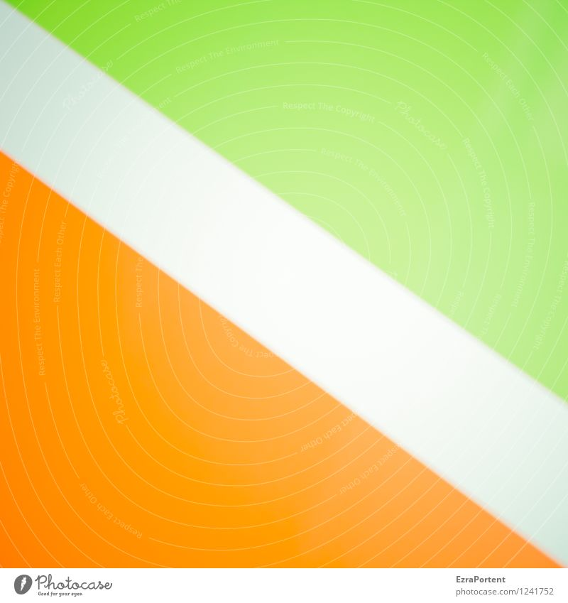 Green Colour White Style Line Bright Orange Design Elegant Esthetic Sign Stripe Illustration Graphic Diagonal Geometry
