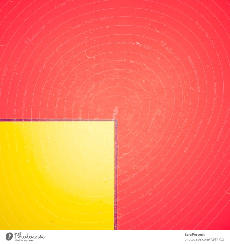 q in Q Style Design Line Stripe Yellow Red Colour Illuminate Structures and shapes Square Scratch mark Illustration Graph Graphic Colour photo Exterior shot