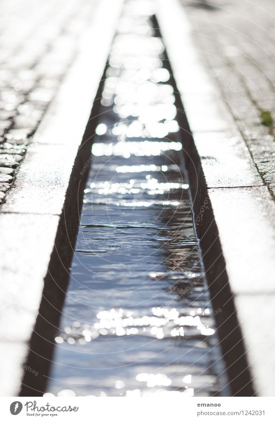 City Water Cold Street Architecture Gray Line Glittering Places Wet Soft Fluid Landmark Downtown Old town Paving stone