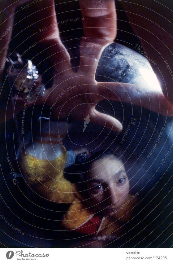 Woman Hand Black Dark Fear Sphere Analog Lady Trashy Grain Panic Magic Eerie Slide Witch