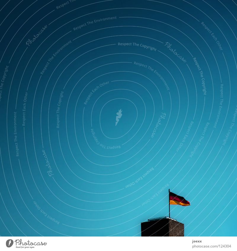 flag in the wind Lookout tower Flag Historic Politics and state Wind Sky Transience Old Germany you are germany Lamb's lettuce Tower Castle