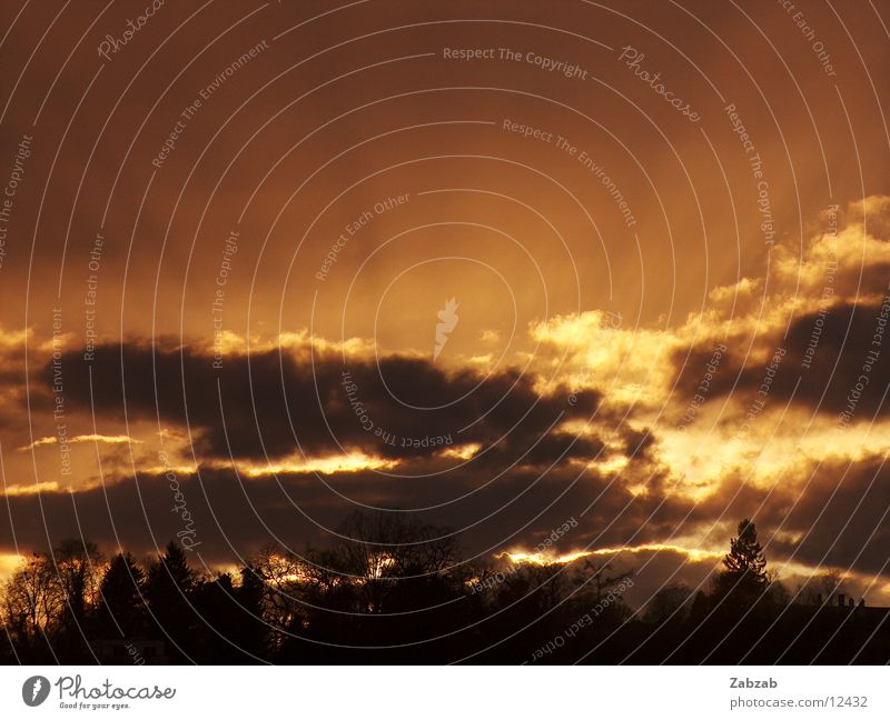 sunrays Clouds Sunset Romance Light Dark Evening Lighting Weather Kitsch Bright