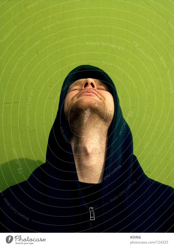 Man Green Face Tall Fresh Concentrate Neck Hooded (clothing) Larynx