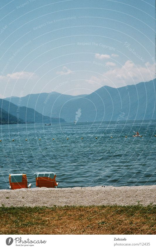 Water Vacation & Travel Clouds Mountain Sand Watercraft Lawn Switzerland Deckchair Canton Tessin