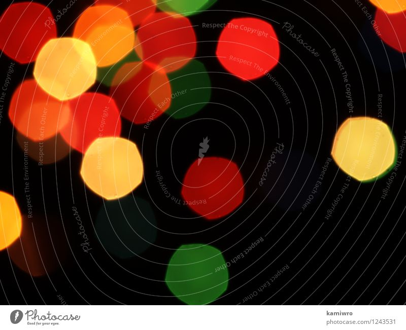 Blurred abstract lights flashing on a black background. Beautiful Colour Eyes Feasts & Celebrations Exceptional Art Bright Glittering Design Decoration Circle Illuminate Conceptual design Air bubble Glow Consistency