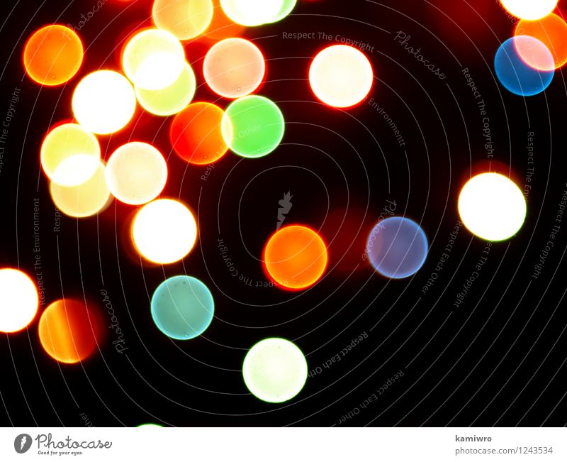 Blurred abstract lights flashing on a black background. Beautiful Colour Eyes Feasts & Celebrations Exceptional Art Bright Glittering Design Decoration Circle