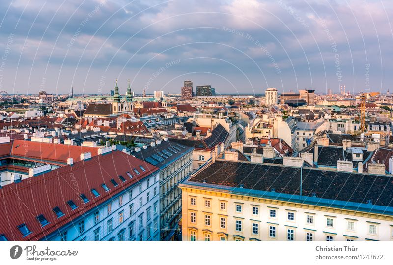 Vienna City Harmonious Well-being Contentment Leisure and hobbies Vacation & Travel Tourism Trip Sightseeing City trip Summer Environment Clouds Sun