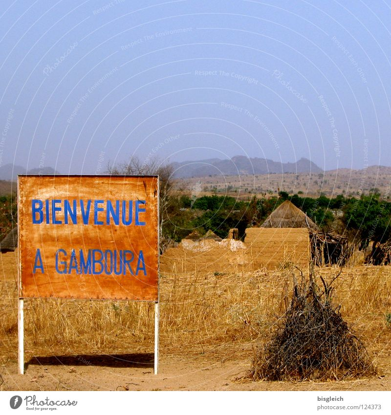 Mountain Brown Poverty Africa Village Hut Signage Steppe Welcome Street sign Warning sign
