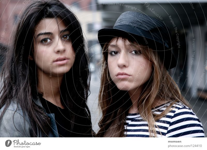 Woman Youth (Young adults) 13 - 18 years Cobblestones Long-haired Club Intoxicant Striped Earnest Things Morning Hipster