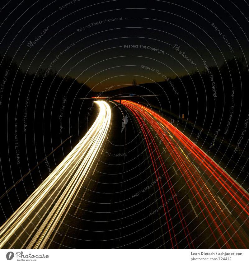 White Red Street Dark Car Line Transport Bridge Motor vehicle Stripe Highway Traffic infrastructure Progress