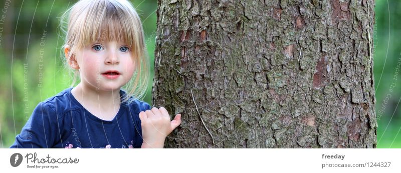 Human being Child Nature Vacation & Travel Summer Tree Hand Girl Forest Face Environment Eyes Life Spring Feminine Think