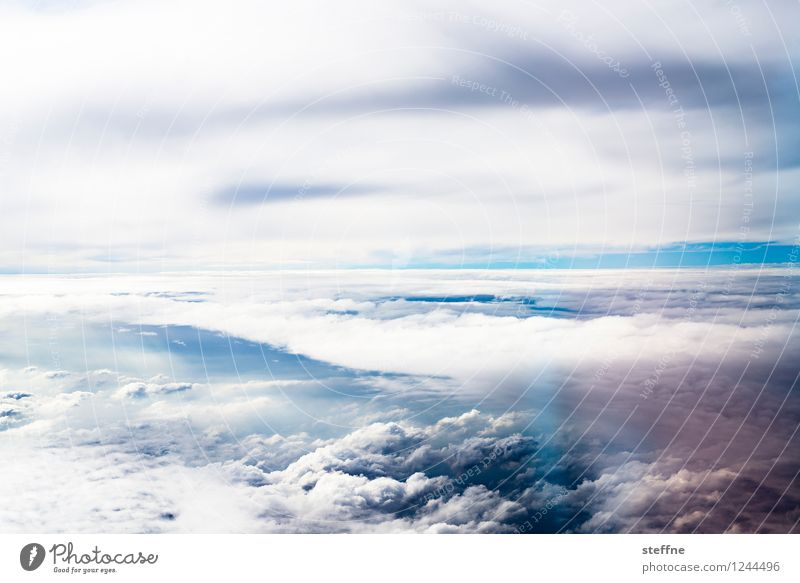 Interspaces (II/III) Nature Sky Clouds Flying View from the airplane Airplane Weather Dramatic Back-light Colour photo Exterior shot Aerial photograph Deserted