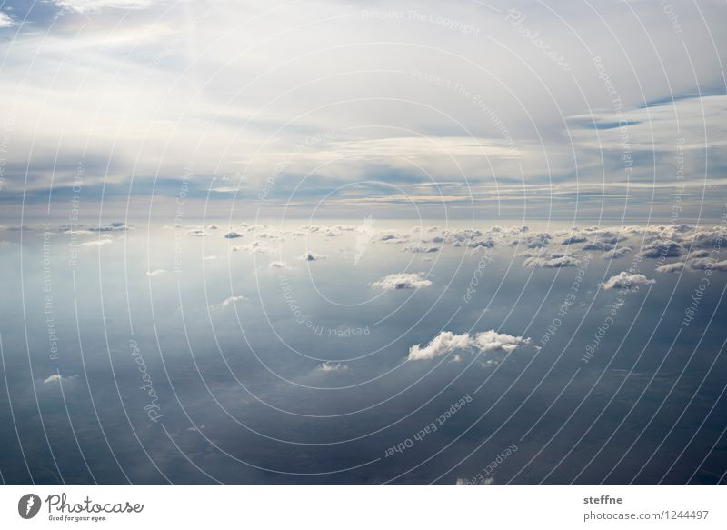 Interspaces (III/III) Landscape Sky Clouds Flying View from the airplane Airplane Weather Cloud field Colour photo Exterior shot Aerial photograph Deserted