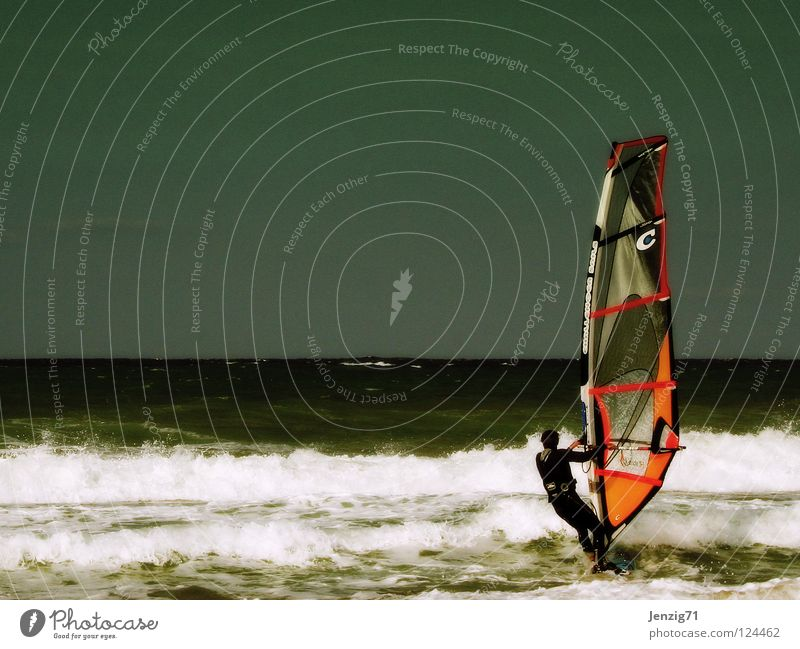 Water Sky Ocean Summer Beach Vacation & Travel Sports Playing Waves Surfing Sail Surfer Aquatics Surfboard Watercraft