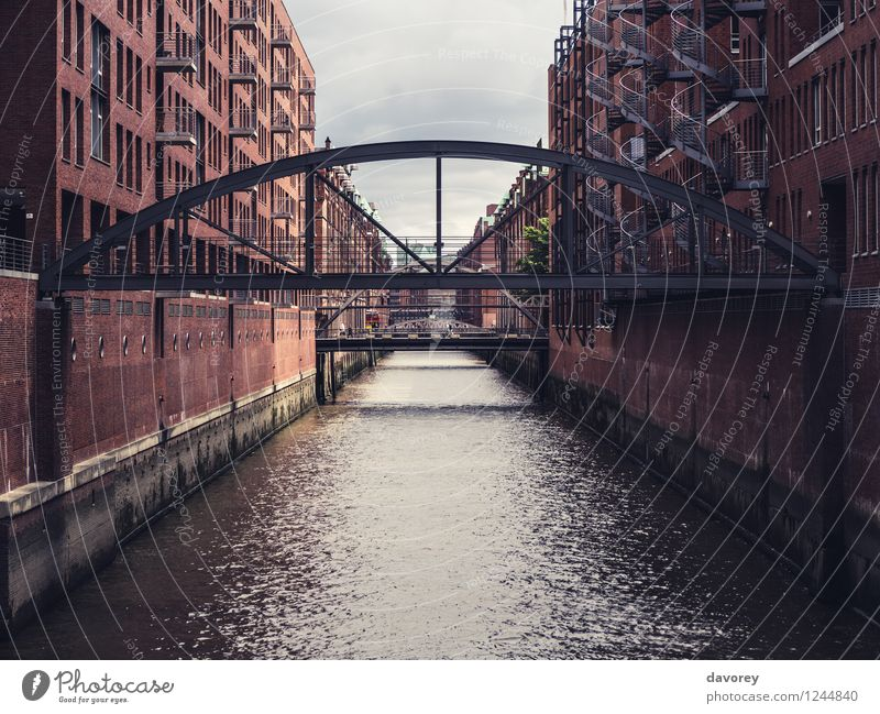 Hafencity Hamburg Germany Europe Town Port City Old town Bridge Building Architecture Tourist Attraction Old warehouse district Means of transport Navigation