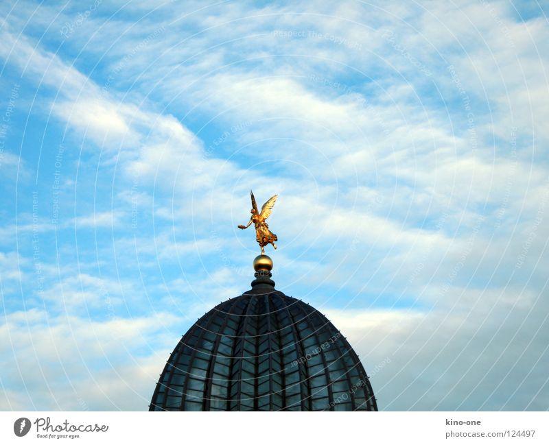 Sky Blue Gold Angel Roof Dresden Historic Domed roof Lemon squeezer