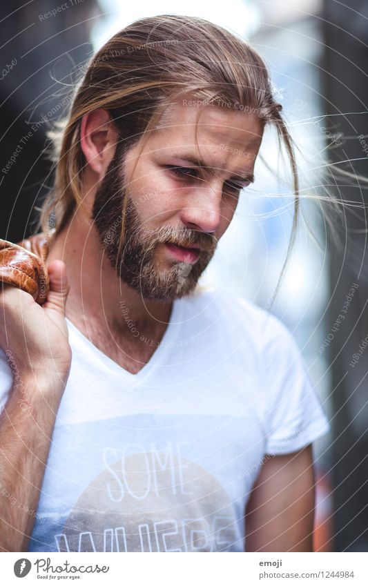 windy Masculine Young man Youth (Young adults) 1 Human being 18 - 30 years Adults Long-haired Facial hair Beard Hip & trendy Beautiful Colour photo