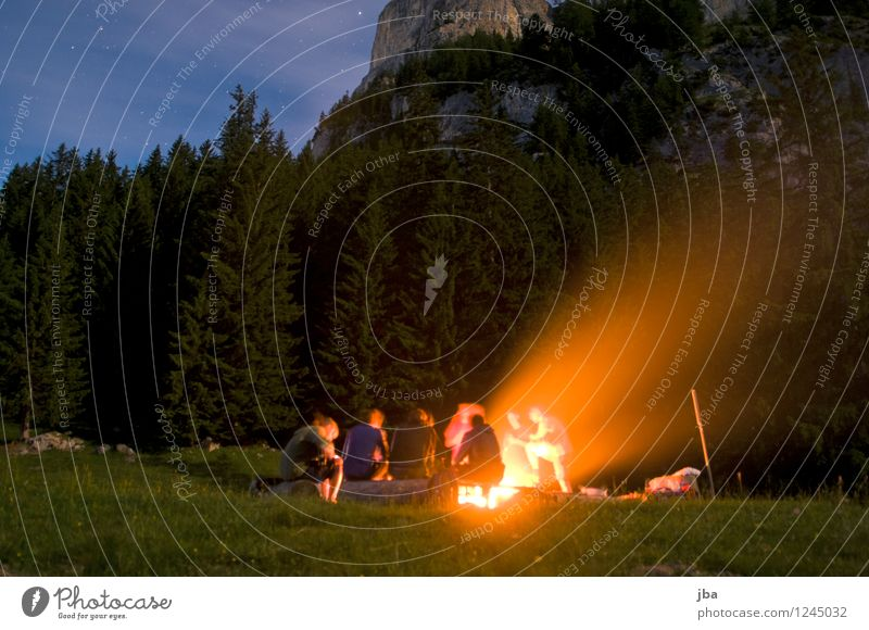 Barbecue with friends Barbecue (event) Well-being Contentment Leisure and hobbies Camping Summer Mountain polterabend Human being Friendship