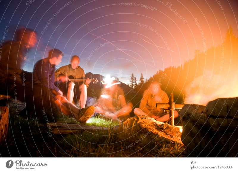 Nature Youth (Young adults) Summer Relaxation 18 - 30 years Adults Mountain Meadow Freedom Group Friendship Masculine Contentment Leisure and hobbies Joie de vivre (Vitality) Elements