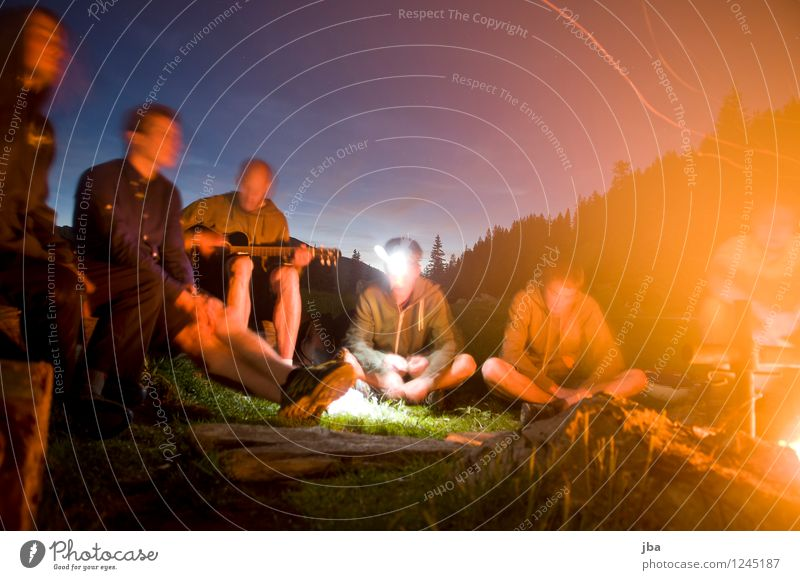 Nature Youth (Young adults) Relaxation 18 - 30 years Adults Mountain Freedom Group Friendship Masculine Leisure and hobbies Music Circle Elements Fire