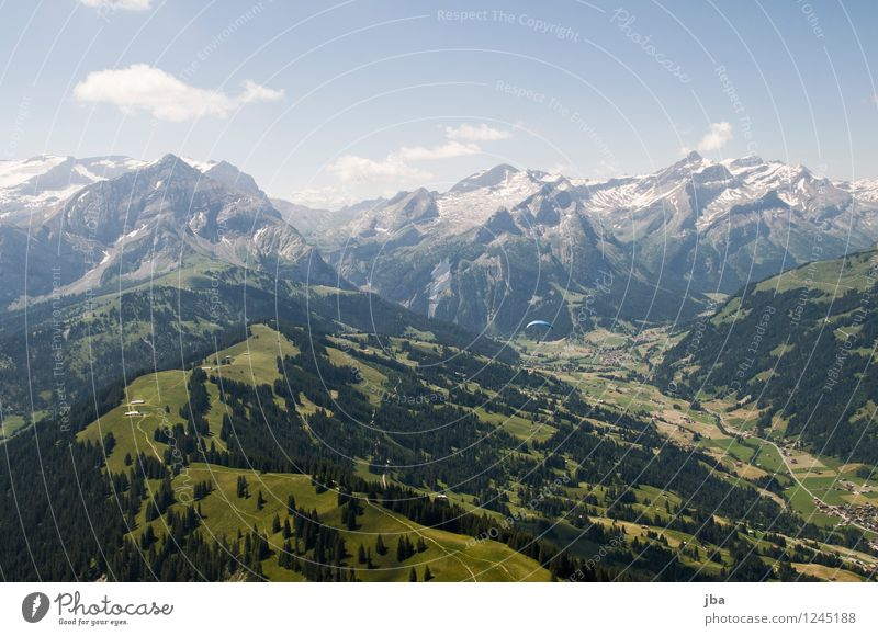 hang and glide Well-being Contentment Relaxation Calm Trip Freedom Summer Mountain Sports Paragliding Sporting Complex Landscape Elements Air Sky