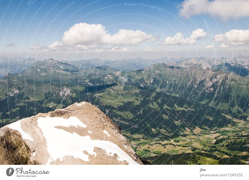 Spitzhorn summit Lifestyle Well-being Contentment Relaxation Calm Leisure and hobbies Trip Far-off places Freedom Summer Mountain Sports Paraglider Paragliding