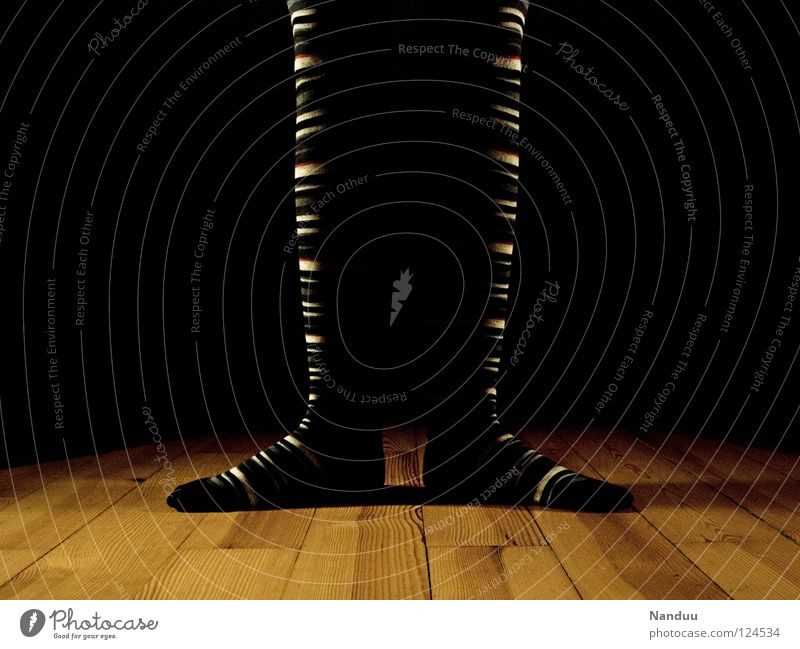 Dark Playing Legs Feet Art Dance Floor covering Culture Stage play Stockings Striped Ballet Floodlight Parquet floor Dancer