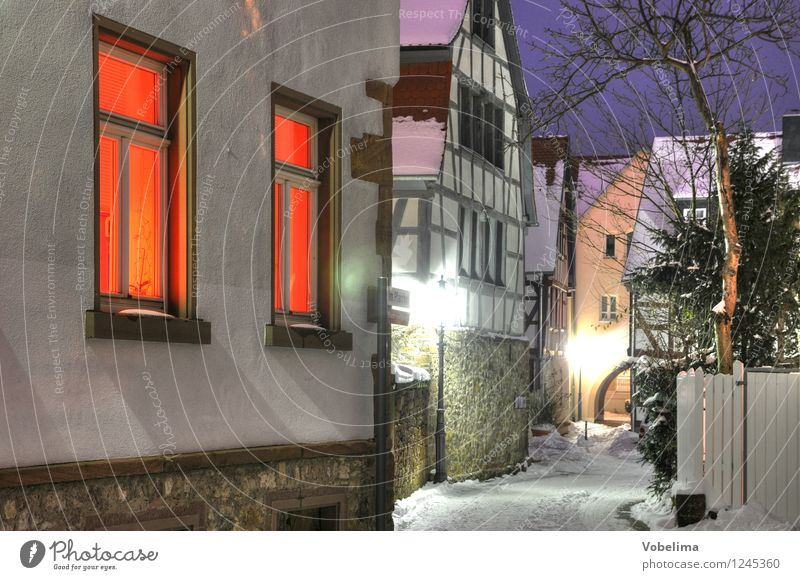 Winter in Groß-Umstadt Architecture Snow House (Residential Structure) Building Wall (barrier) Wall (building) Window Street Lanes & trails Cold Exterior shot