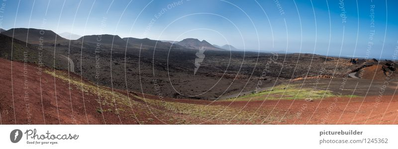 volcanic landscape Nature Landscape Earth Summer Beautiful weather Drought Mountain Desert Volcano Lanes & trails Gloomy Dry Blue Brown Red Horizon Colour photo