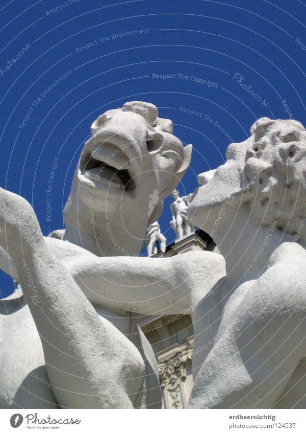 White Blue Movement Art Horse Statue Sculpture Muzzle Arts and crafts  Nostrils