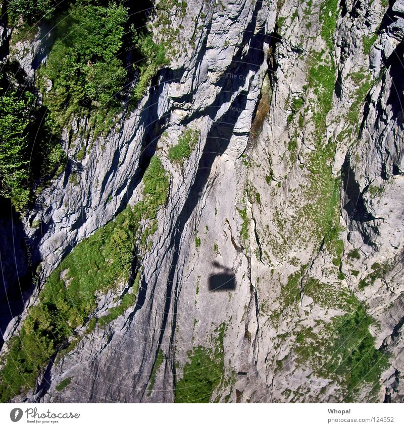 Beautiful Vacation & Travel Mountain Rock Switzerland Deep Edge Waterfall Cable car