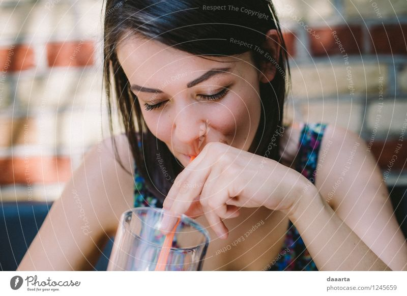enjoying summmer Beverage Drinking water Lemonade Glass Straw Lifestyle Elegant Style Joy Harmonious Senses Relaxation Leisure and hobbies Playing Trip