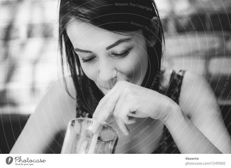 summer days Lifestyle Elegant Style Joy Harmonious Relaxation Leisure and hobbies Summer Restaurant Flirt Drinking Smiling Friendliness Happiness Positive