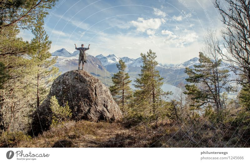 Im am the King of the World Vacation & Travel Tourism Trip Adventure Far-off places Freedom Expedition Summer Mountain Hiking Sports Fitness Sports Training 1