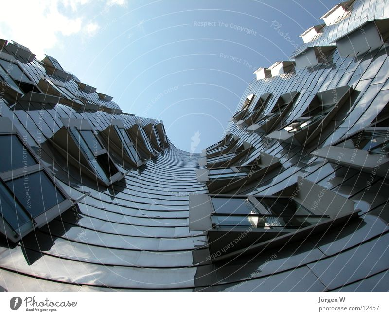 Sky House (Residential Structure) Architecture Tall Harbour Steel Tilt Duesseldorf Warped Port Zollhof Gehry buildings
