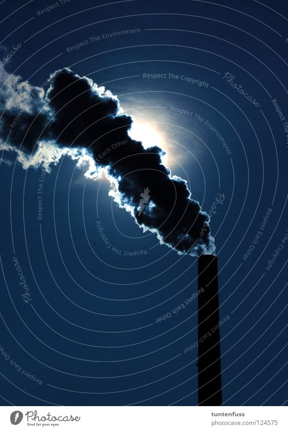 Dark Industry Factory Mysterious Exhaust gas Chimney Steam Mannheim Air pollution