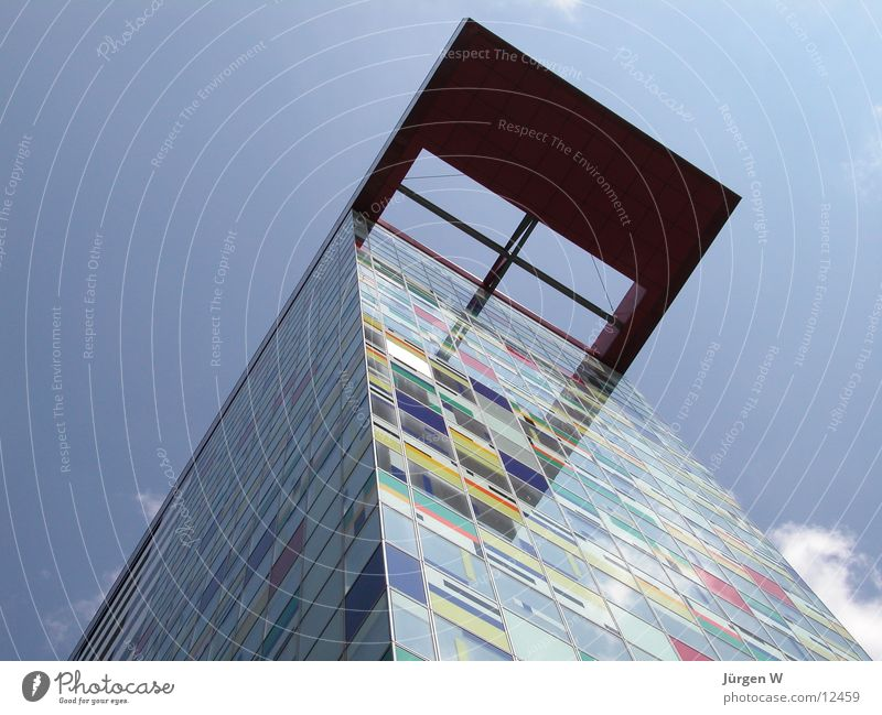 Sky House (Residential Structure) Colour Architecture Tall Harbour Duesseldorf Port Patchwork
